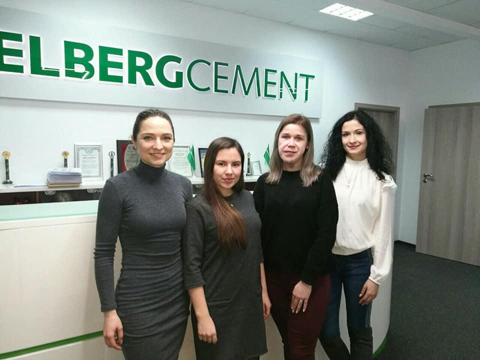 Прохождение практики студентами в HeidelbergCement Ukraine, Prjsc / ПрАТ «ХайдельбергЦемент Україна»